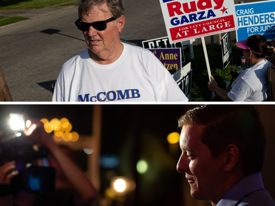 Joe McComb will face Michael Hall in a runoff election on Dec. 18, 2018.