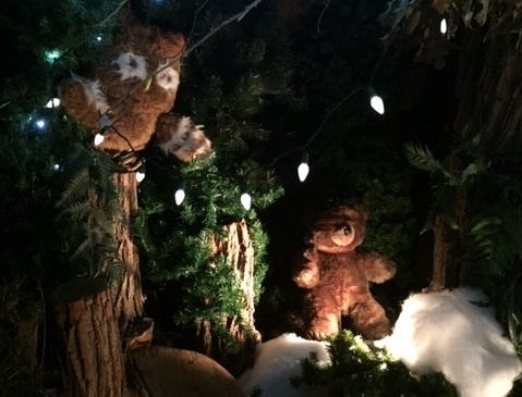Teddy bears are not short on cheer at  G Boys Animation Wonderland at McNaughton's Garden Center in Cherry Hill.