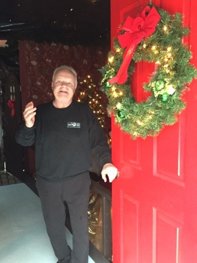 G Boys Animation Wonderland owner Ralph Gaudio welcomes guests to his walk-through holiday experience at  McNaughton's Gardens Center in Cherry Hill.