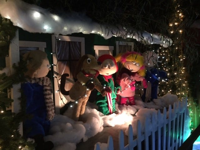 An animated scene from G Boys Animation Wonderland at McNaughton's Garden Center in Cherry Hill.