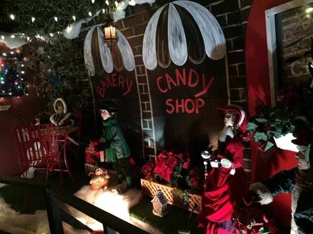 A candy shop is featured at G Boys Animation Wonderland at McNaughton's Garden Center in Cherry Hill.