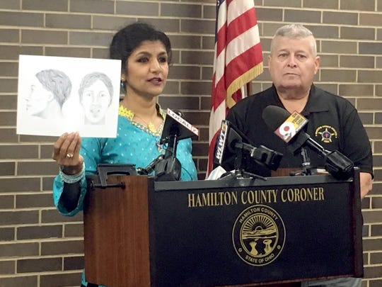 Hamilton County Coroner Lakshmi Sammarco is asking for the public's help identifying a woman found buried in Avondale in May.