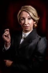 "Lisa DeRoberts stars in ""Susan Swayne and the Bewildered Bride"" at the Know Theatre of Cincinnati."
