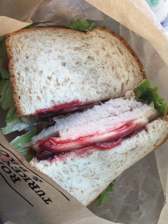 Arby's Gobbler sandwich with deep-fried turkey