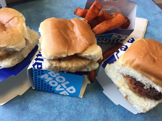 Turkey sliders and sweet potato fries from White Castle