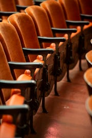 The seats, including the hat racks on the bottom of the seats, have been repaired in the Newsreel Theater of The Cincinnati Museum Center at Union Terminal.