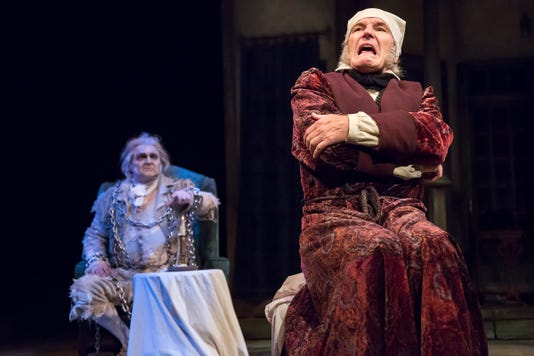 bruce cromer front returns as ebenezer scrooge in the playhouse in the parks production of a christmas carol seen with him in this 2016 photo is - Is A Christmas Story On Netflix