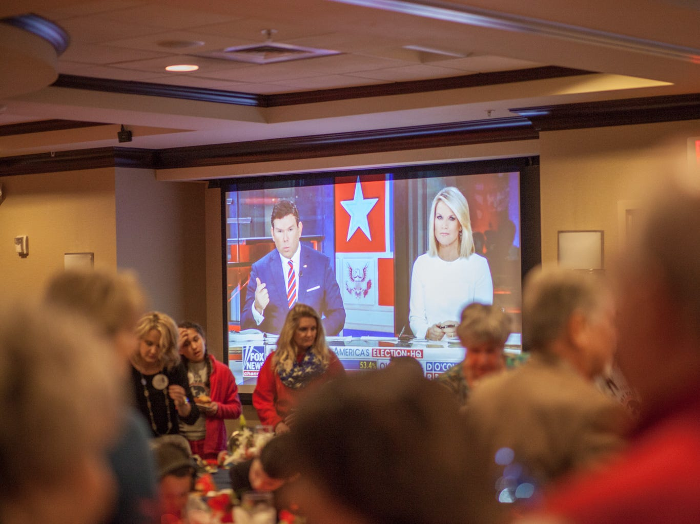 The Montgomery County Republican Party hosted their watch party on Tuesday at the Hilton Garden Inn on Alfred Thun road.