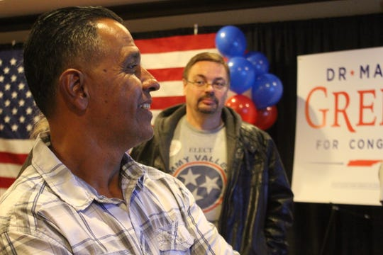 State House District 67 Republican candidate Tommy Vallejos watches election returns with a hopeful eye on election night, Nov. 6.
