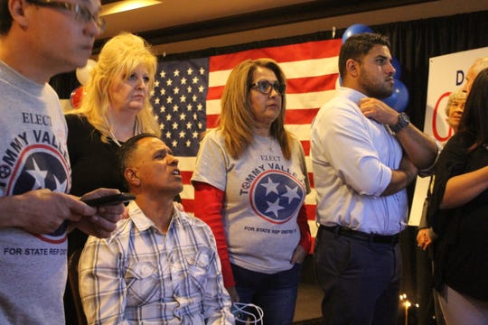 State House District 67 Republican candidate Tommy Vallejos and his supporters watch the results roll in, as Vallejos gets handed his first political defeat on election night, Nov. 6.