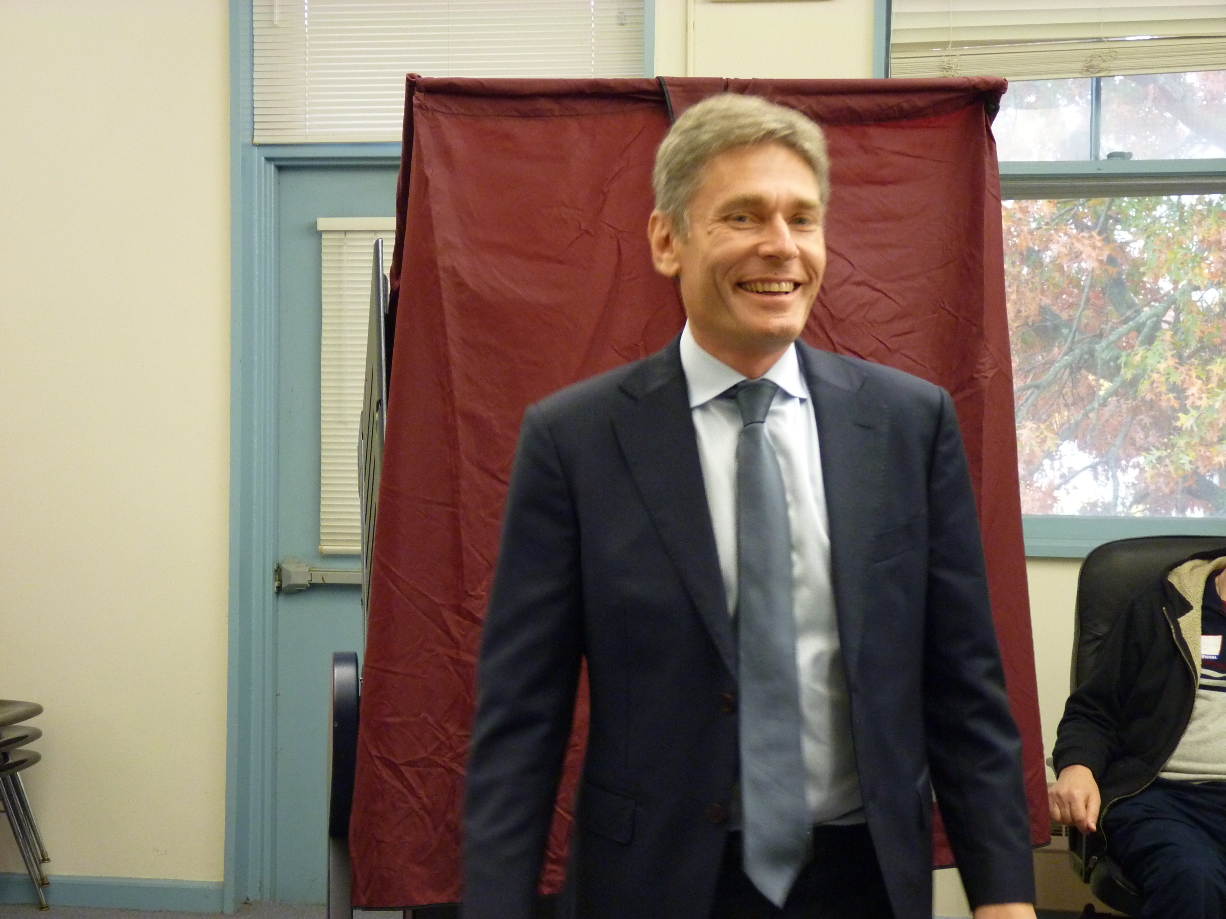 Congresman-elect Tom Malinowski after voting in Rocky Hill.