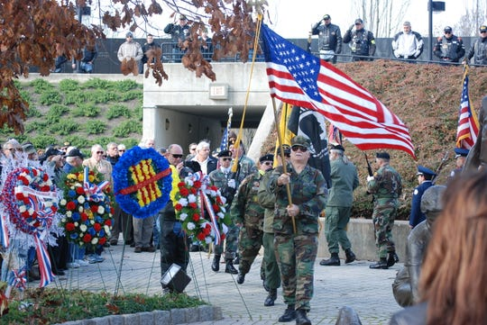 Veterans Day Ceremony 2011 at the New Jersey Vietnam Veterans' Memorial in Holmdel.