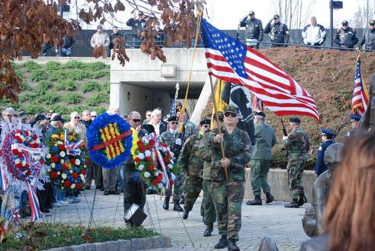 Veterans Day Ceremony 2011 at the New Jersey Vietnam Veterans' Memorial in Holmdel.