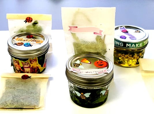 Herb Jars And Tea Pouches