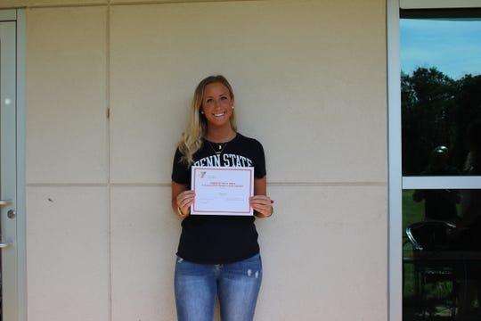 Cara Scaliti of Bernardsville, winner of the Millicent Fenwick Scholarship.