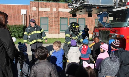 Dunellen firefighters taught Faber School students fire safety.