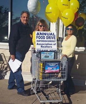 Members of Weichert's sales team at its Branchburg office participated in the food drive for the Flemington Area Food Bank, sponsored by the Hunterdon/Somerset Association of Realtors.