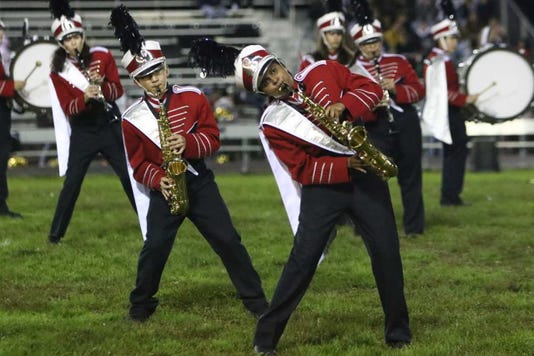 Band Co Drum Major Shakthi Boobalan Leads One Of The Many Dance Moves Incorporated Into The Show