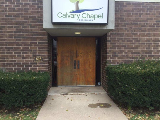 This is the sidewalk lip at Calvary Chapel on Des Moines' east side that one resident who uses a wheelchair said made the precinct site inaccessible for him. Polk County Auditor Jamie Fitzgerald said county workers had originally believed the lip was not an obstacle and thought the site followed federal disability access requirements. Fitzgerald on Wednesday said his office was further reviewing the matter.