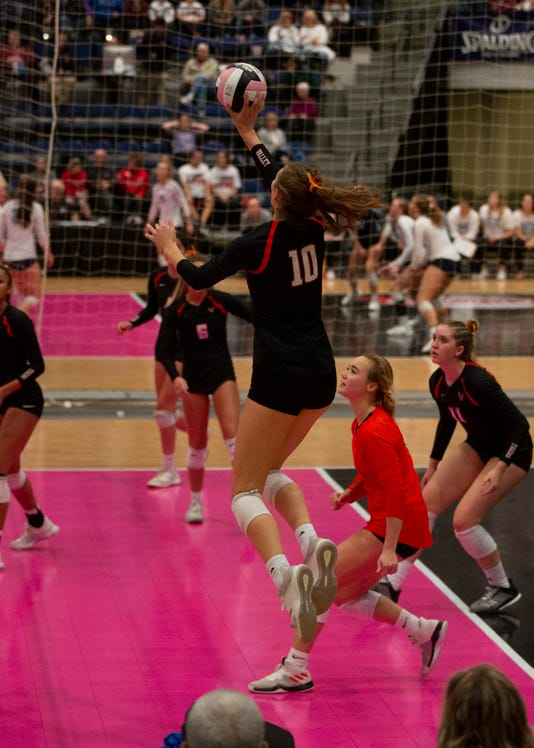 Wdm Valley Madi Kubik Attacks During The State Volleyball Tournament Quarterfinals