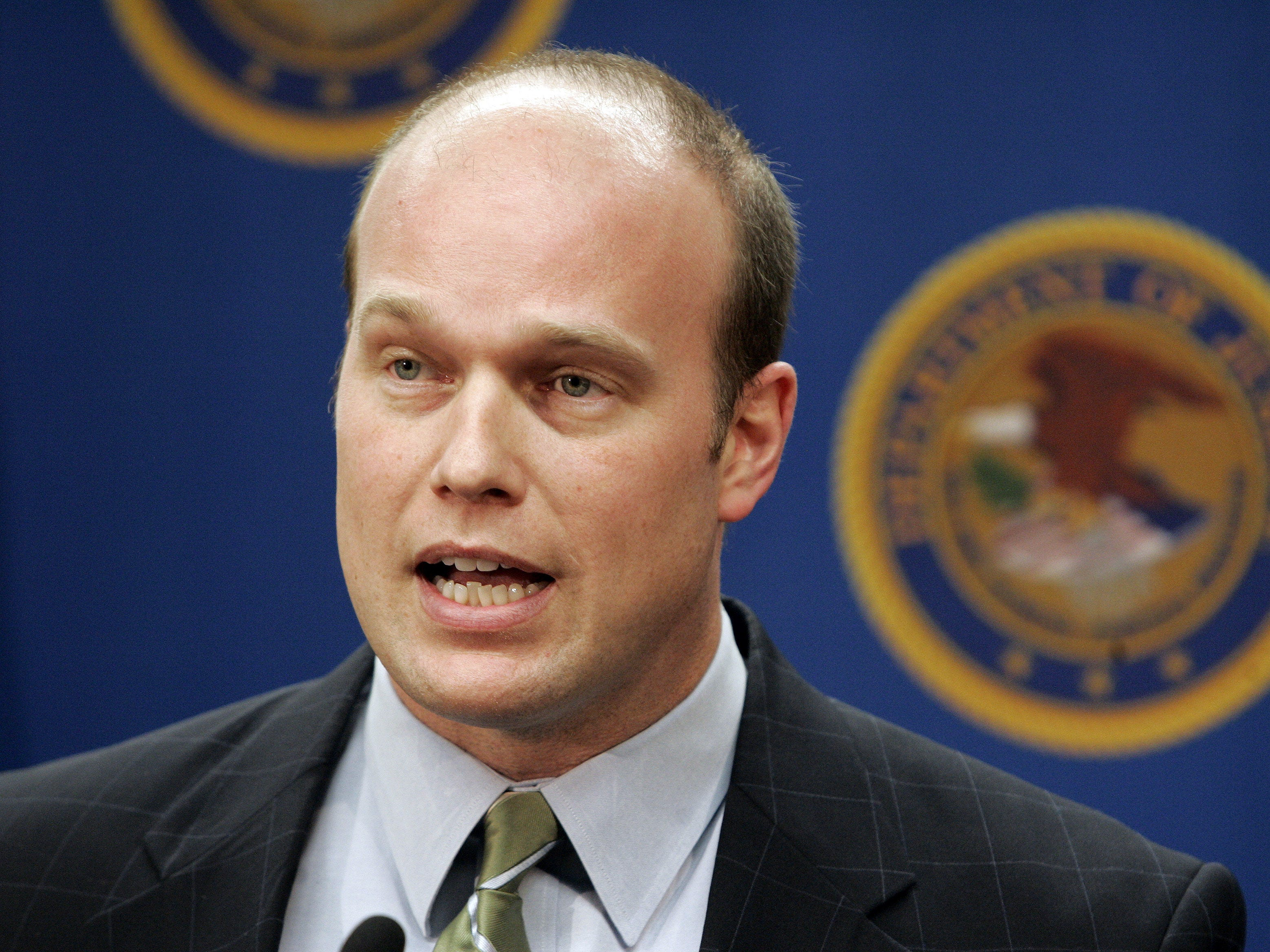 From March 2007: Southern District of Iowa U.S. Attorney Matt Whitaker speaks at a press conference in 2007.