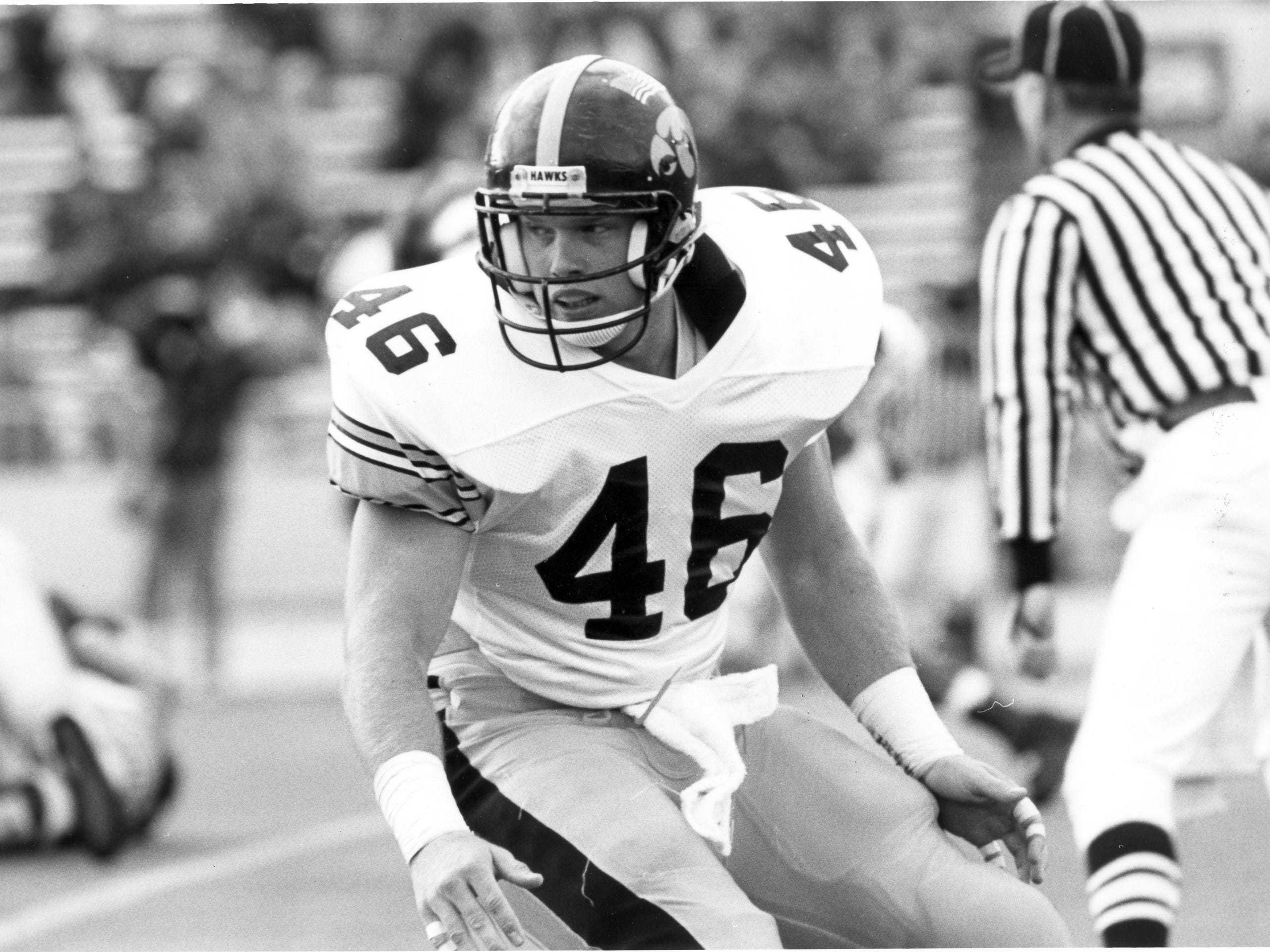 Matt Whitaker is pictured in this undated file photo provided by the University of Iowa.  Whitaker played tight end at The University of Iowa from 1988-1992.  On Wednesday, Nov. 7, 2018, Whitaker was named acting Attorney General after Attorney General Jeff Sessions resigned.