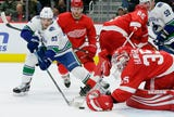 Red Wings showed resilience in finding a way to win a close game, 3-2, over the Canucks, Nov. 6, 2018 in Detroit.