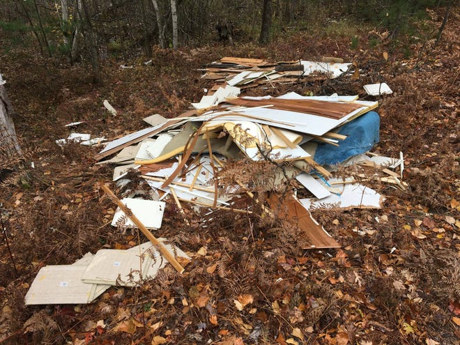 Rangers filled a pickup truck three times over with the trash left at Sleeping Bear.