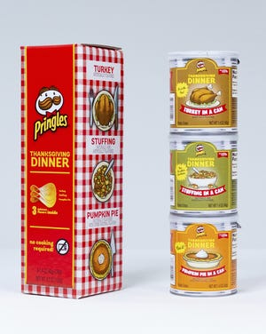Pringles is selling limited-edition chips that taste like turkey, stuffing and pumpkin pie this Thanksgiving.