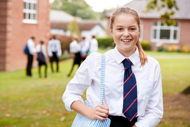 Female teenage student