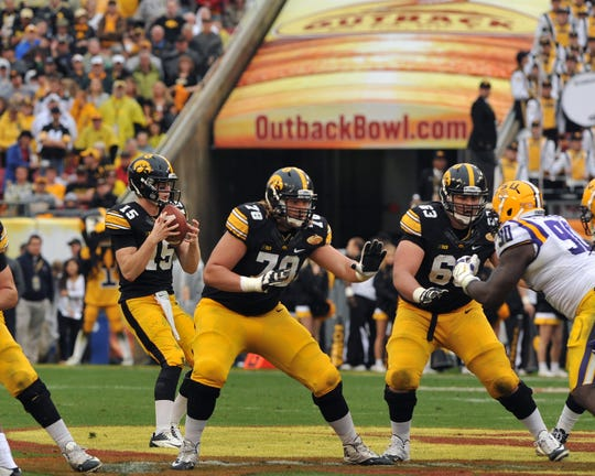 Lions offensive lineman Andrew Donnal played collegiately at Iowa.
