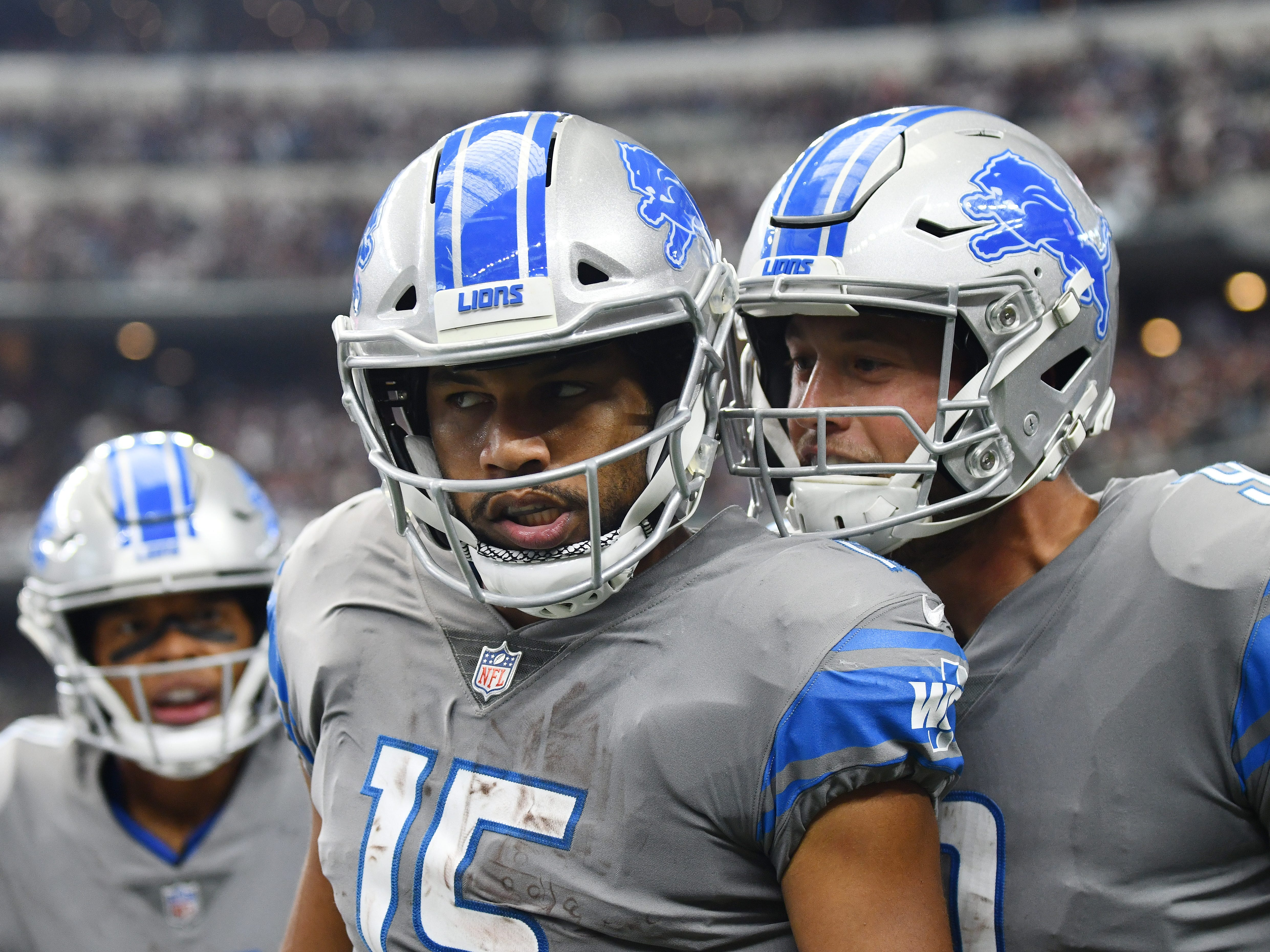 WR Golden Tate: A final grade for the former YAC king of Detroit. Tate was off to a blazing hot start before the Lions shipped him to Philadelphia at the deadline, leading the team in receptions and receiving yards. His best outings came in loses, but without him, the Lions wouldn't have been close in Dallas. Tate was doing what he did best before the trade, making tacklers miss, but drops were definitely an issue. He put five passes on the ground. Grade: B+