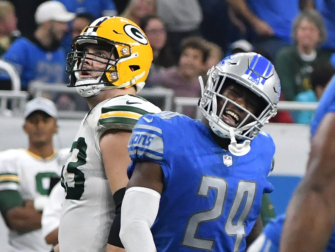 CB Nevin Lawson: In coverage, Lawson isn't as bad as many think. In fact, he's only allowing 52 percent of his targets to be completed, and is a reliable tackler on the perimeter. The biggest issues are penalties and his lack of ball skills. He leads the team with seven flags and has continued his career-long trend of not being able to make plays on the ball. He has just three pass breakups and dropped what should have been the first interception of his career.  Grade: C-