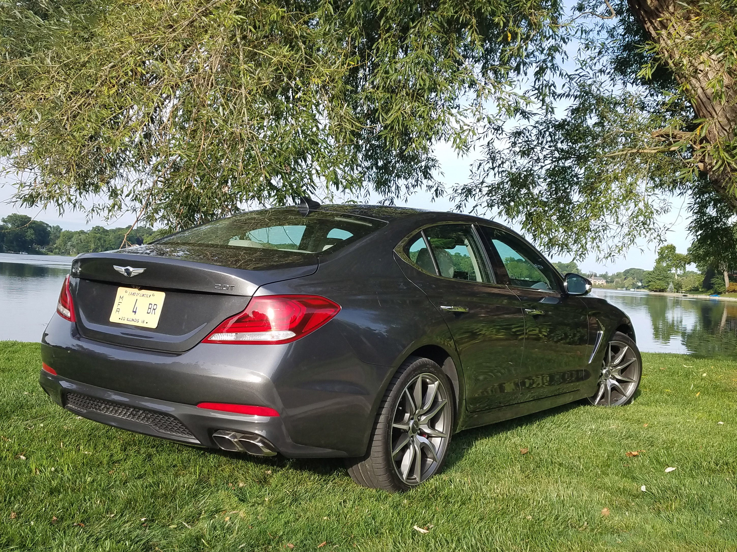 The 2019 Genesis G70 Sport is most distinctive from the rear with its muscular haunches telegraphing the car's athletic abilities.