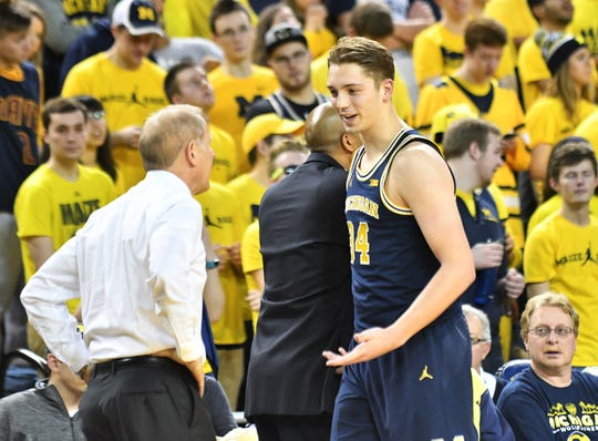 Mark Donnal played three seasons at Michigan before transferring.
