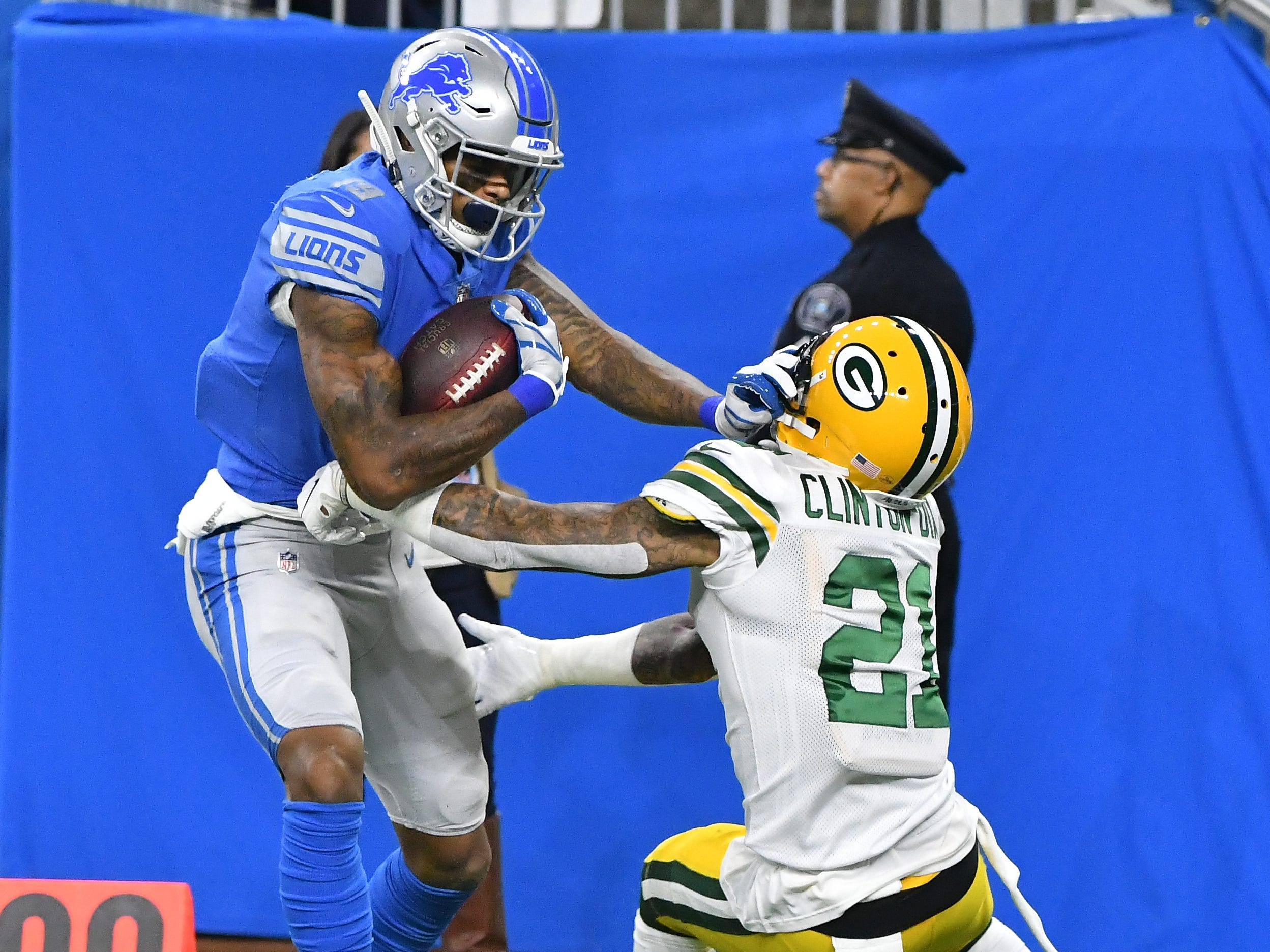 WR Kenny Golladay: Golladay has been the Lions' best receiver, making significant improvements to multiple facets of his game. He's the team's best perimeter blocker, has showed cleaner route running, at all depth levels, and has displayed strong hands, dropping just one pass. He's slumped a bit in recent weeks, facing some different coverage looks, but still has a strong shot of topping 1,000 yards if he stays healthy. Grade: A-
