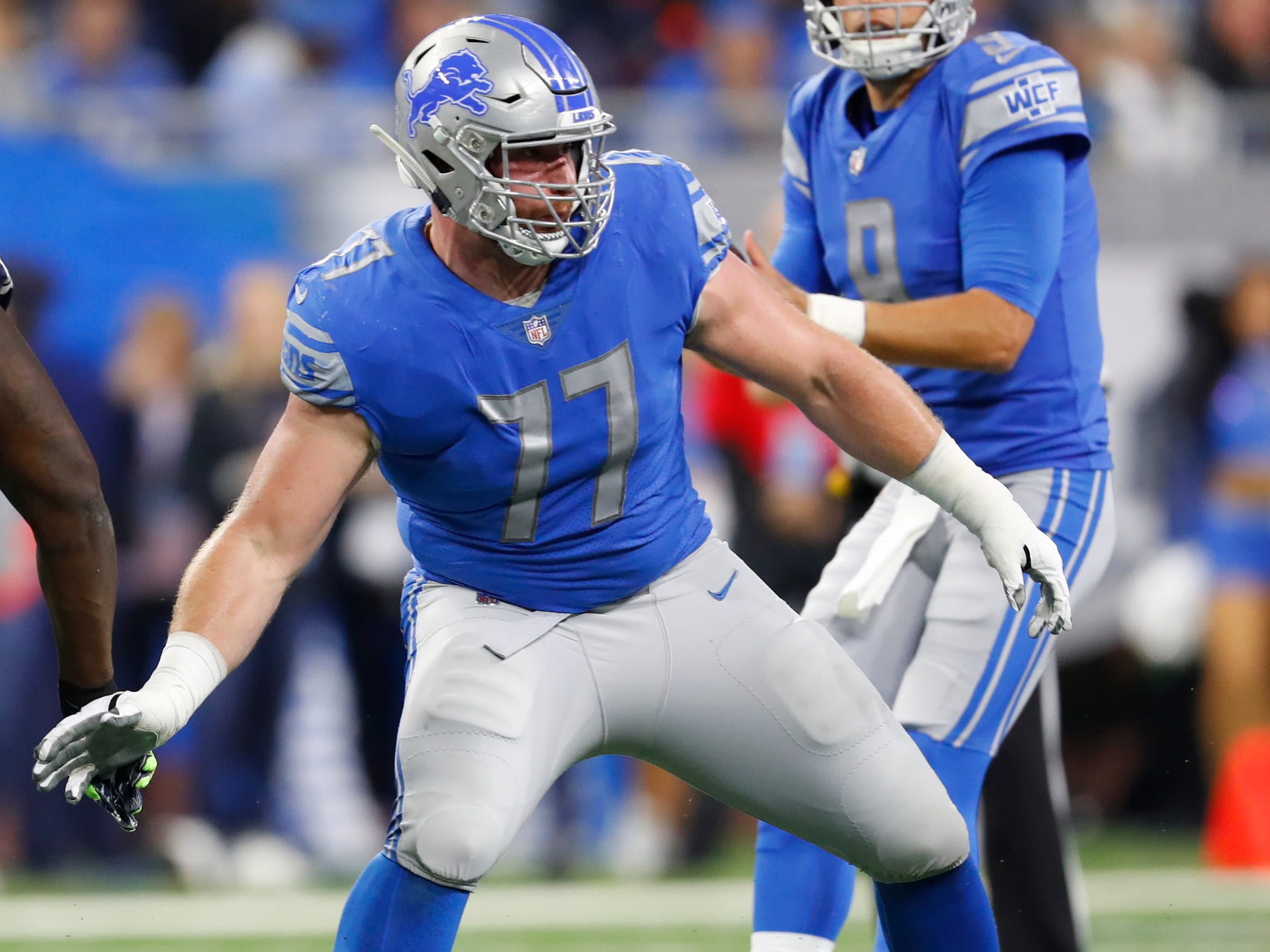 G Frank Ragnow: Ragnow looked overwhelmed his first two games, allowing an absurd amount of interior pressure get through to Matthew Stafford, but the rookie guard has cleaned up much of the problem since then. He still has a long way to go when blocking stunts, and the run blocking, which has had its highs and lows, needs to be more consistent.  Grade: C