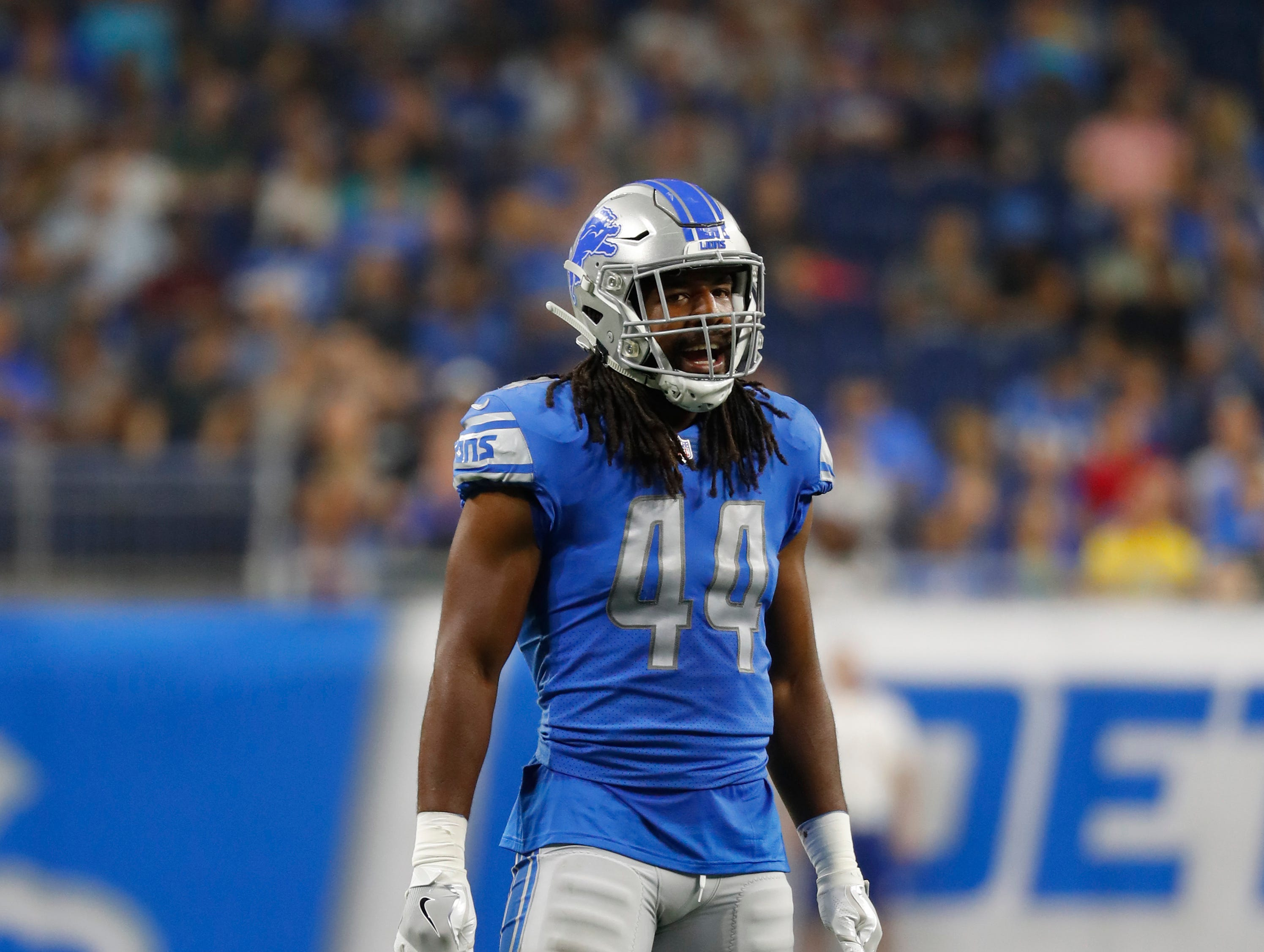 LB Jalen Reeves-Maybin: After the Lions prioritized getting bigger at linebacker this season, Reeves-Maybin felt like an awkward fit for the scheme. When he's gets into games, he offers more coverage range than Detroit's other linebackers, but despite how instinctual he can be, he's unreliable against the run because he struggles to get off blocks if he doesn't diagnose quickly enough to beat the blocker to the spot. Grade: C
