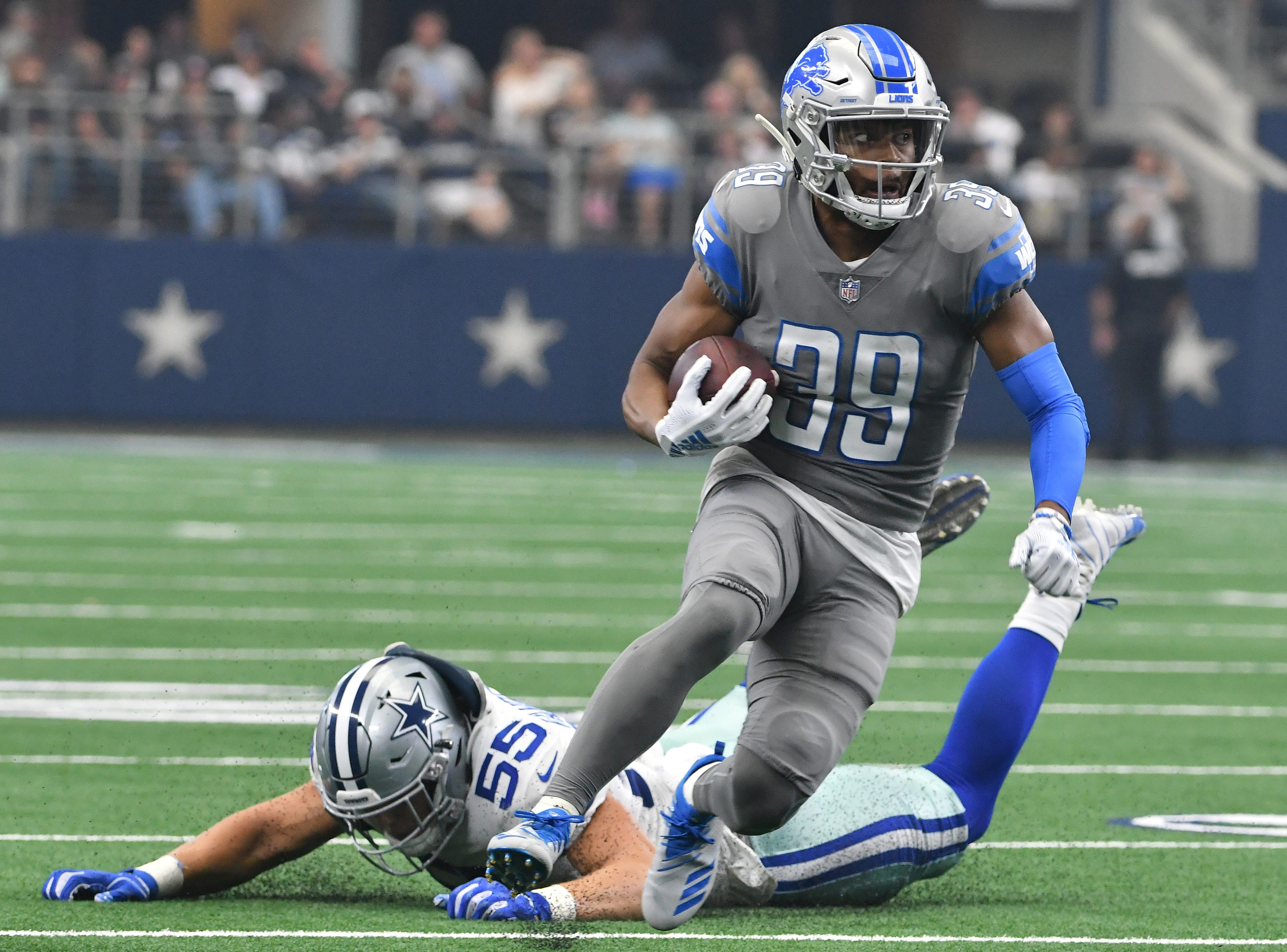 CB Jamal Agnew: Before a season-ending injury, the Lions were giving Agnew increased playing time in the slot. Unfortunately, the early returns weren't great for the youngster who set records for pass breakups while in college. As a return man, Agnew was a victim of his blocking, prohibiting him from replicating his success from a year ago. Grade: D+