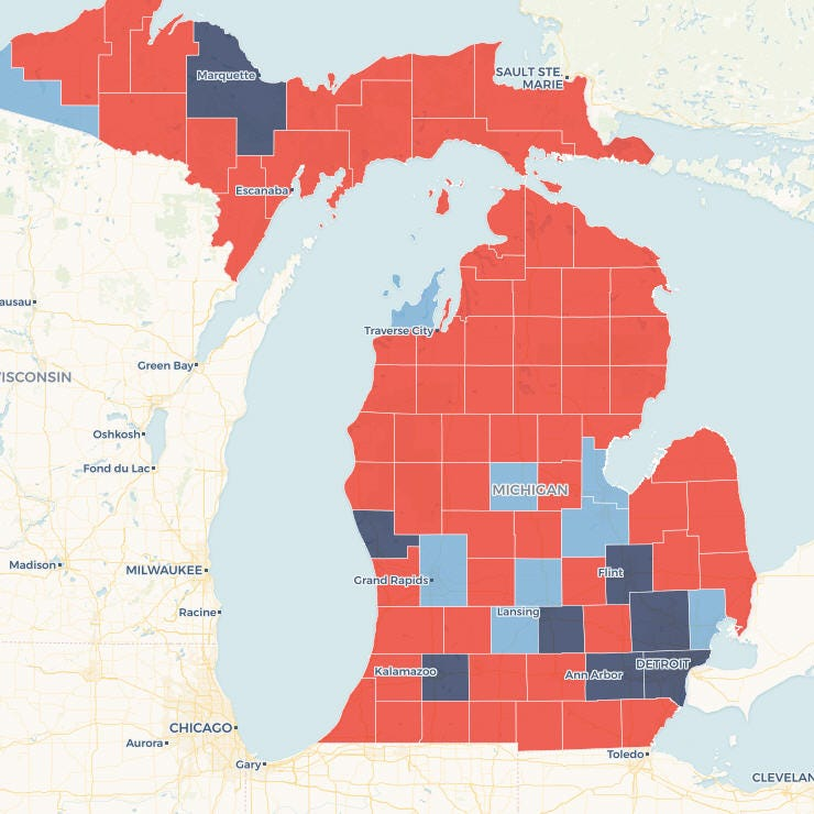 Map: How Gretchen Whitmer won Michigan