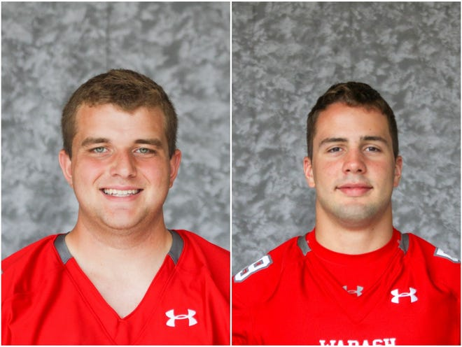 Drew Buttrum (left) and Jared Bertram (right) are former Central High players now at Wabash College.