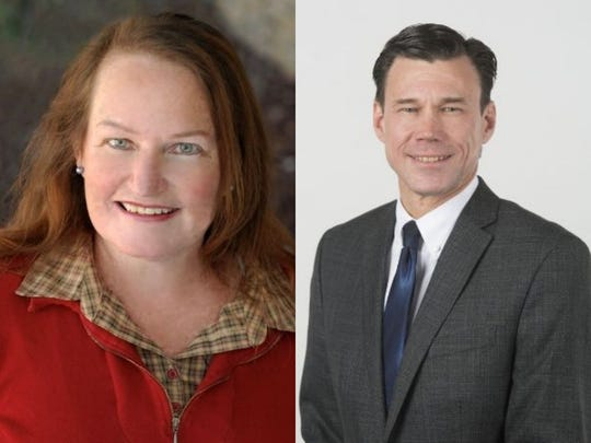 Alexis Smith, left, narrowly lost the race for Larimer County assessor to Bob Overbeck, right.