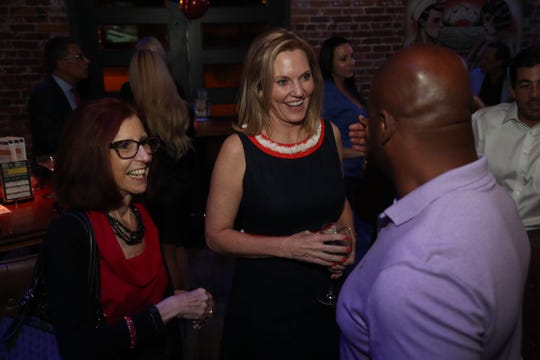State Rep. Heather Fitzenhagen and her supporters celebrate her election win over Dr. Parisma Taeb in the FL House District 78 race.