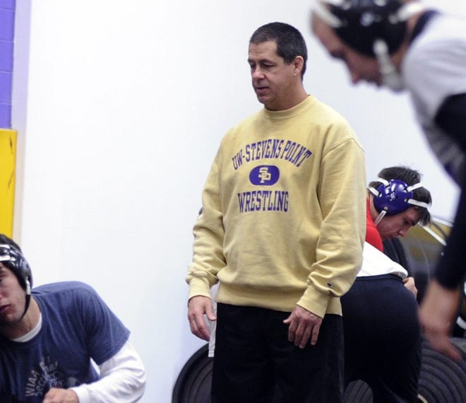 Johnny Johnson, head coach of the University of Wisconsin-Stevens Point's  wrestling team.