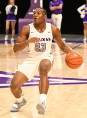 Jordan Lyons (23), a first-team All-Southern Conference selection, is Furman's leading scorer, but he is far from the only offensive option for the Paladins as they head into the SoCon Tournament.