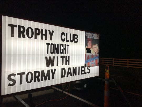 Stormy Daniels spent a weekend at The Trophy Club on Airport Road in Greenville, with her final performance on Election Day, Nov. 6, 2018.