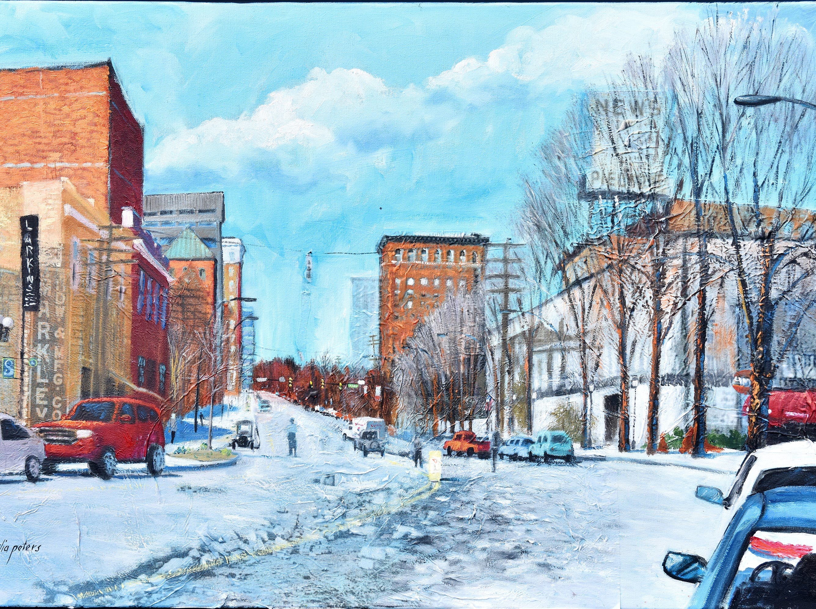 South Main, circa 1900-2013, oil painting by Julia Peters