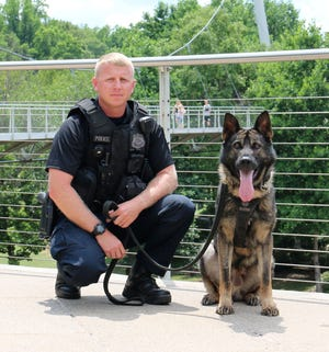 Officer B. Newman and his K-9, Sarge.