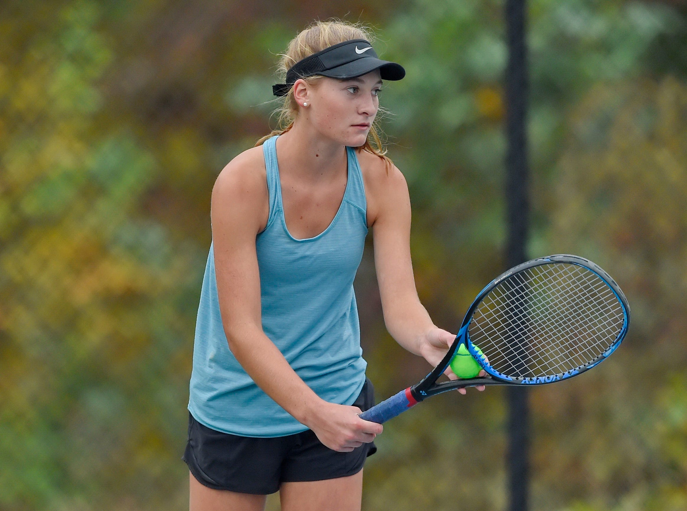 Christ Church hosted St. Joseph's in the Upper State girls tennis playoffs Monday, Nov. 5, 2018.