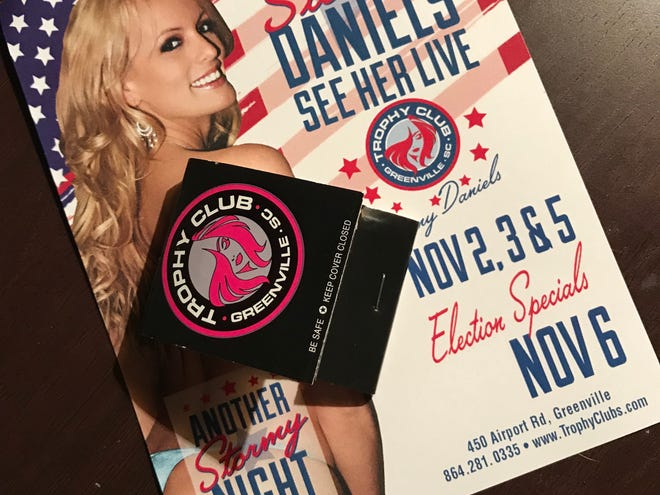 Stormy Daniels spent a weekend at The Trophy Club in Greenville, with her final performance on Election Day, Nov. 6, 2018.